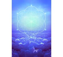 All but the Brightest Star (Sirius Star Geometric) Photographic Print