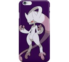 pokemon mega mewtwo x chibi anime shirt iPhone Case/Skin