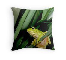 Green Tree Froggy Throw Pillow