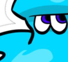Splatoon Squiddie - Strike Blue Sticker