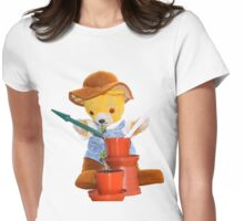Re-potting the seedlings Womens Fitted T-Shirt