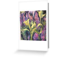 Leaves and Flowers Greeting Card