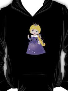 Cute Princess in a violet dress T-Shirt