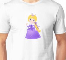 Cute Princess in a violet dress Unisex T-Shirt