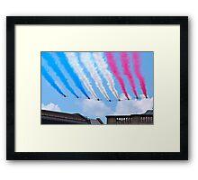 Red Arrows flying over London Framed Print