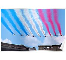 Red Arrows flying over London Poster
