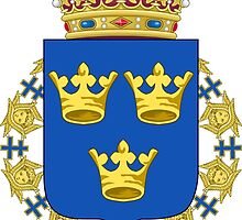 Lesser Coat of Arms of Sweden by abbeyz71