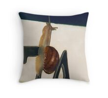 Snail Mail Delivery Throw Pillow