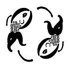 Yin & Yang Type Fish by Kida-Lee