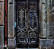 The Old European Door Fine Art Print by stockfineart