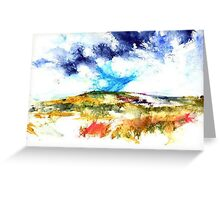 up on the moors Greeting Card