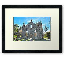 Hope - Port Arthur  Church - Port Arthur Historic Site - The HDR Experience Framed Print