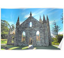 Hope - Port Arthur  Church - Port Arthur Historic Site - The HDR Experience Poster