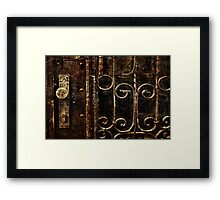 Abandoned Lock Fine Art Print Framed Print