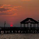 Sun Peeking over Pier 2 by Alexander Butler