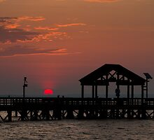 Sun Peeking over Pier 2 by Alexander Butler