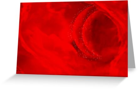 Once in a red moon -Abstract Art + Design products by haya1812