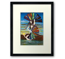 Rainbow Goddess after the Rain Framed Print