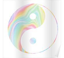 Tie Dye Yin Yang Poster
