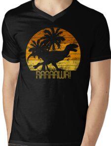Dino Sunset 3 Mens V-Neck T-Shirt