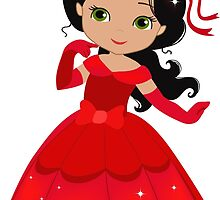 Beautiful Princess in a red dress by Sandytov