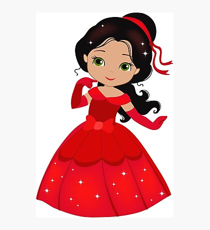 Beautiful Princess in a red dress Photographic Print