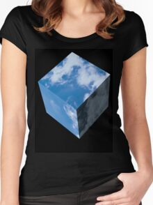 The Sky Is Square Women's Fitted Scoop T-Shirt