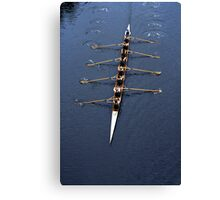 Mens 8 rowing Canvas Print