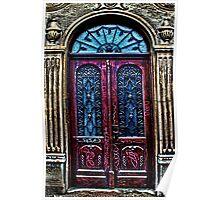 Abandoned Wooden Door Fine Art Print Poster
