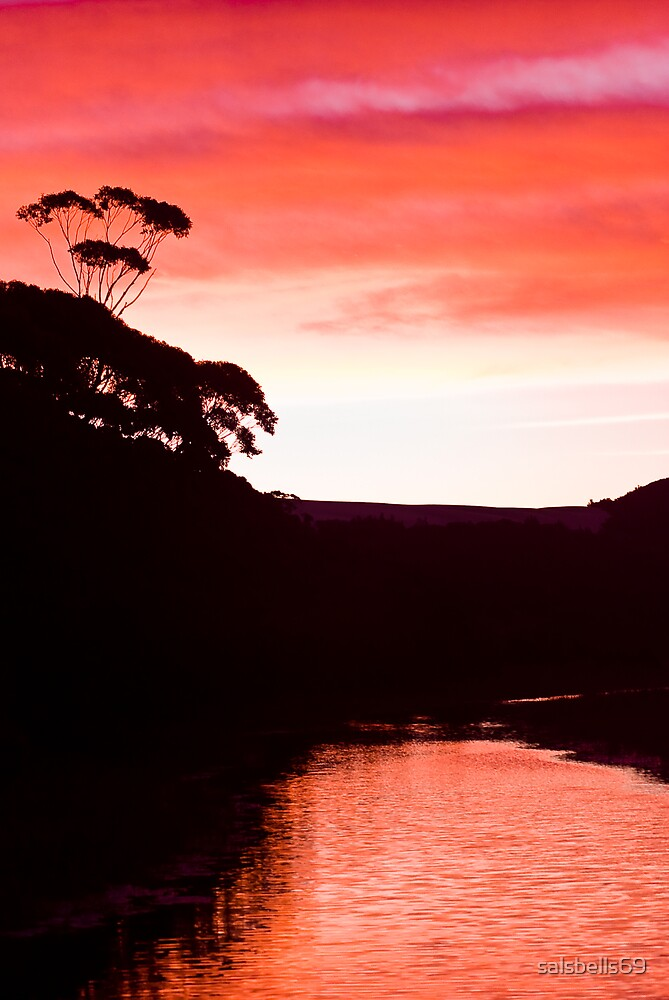 Sunset over the Thurra - Croajingolong National Park  by salsbells69
