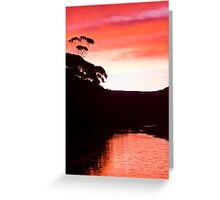Sunset over the Thurra - Croajingolong National Park  Greeting Card