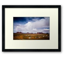 Monument Valley in the Spring Framed Print