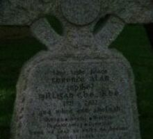 "on this grave in gaelic reads ""i knew i weren`t well"" by charliethetramp"