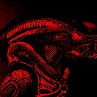 Xenomorph (Red) by Martin Hoskins