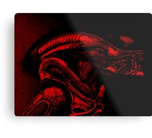 Xenomorph (Red) Metal Print