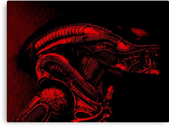 Xenomorph (Red) by Martin Hoskins