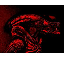 Xenomorph (Red) Photographic Print