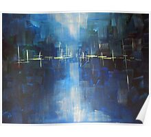 River - Abstract Landscape Poster