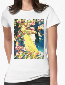 Lady With Forest Flowers T-Shirt