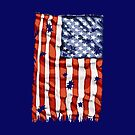 American flag with bullet holes by rlnielsen4