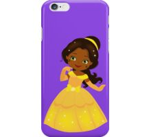 African American Beautiful Princess in a yellow dress iPhone Case/Skin