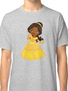 African American Beautiful Princess in a yellow dress Classic T-Shirt