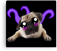 Kawaii Alien Pug Canvas Print
