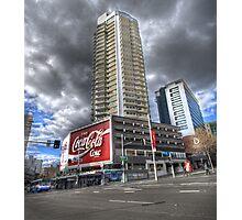 Coke at Zenith Apartments Photographic Print