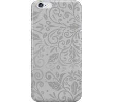 Silver Scrolls iPhone Case/Skin