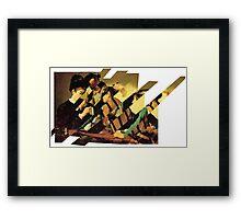 Card Sharps Framed Print