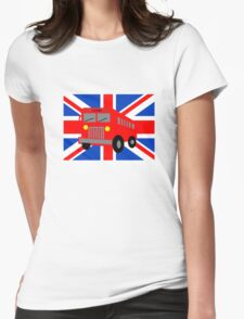 Bus in London Womens Fitted T-Shirt