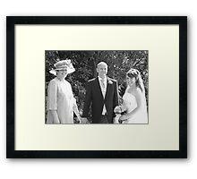 Bride & Parents Framed Print