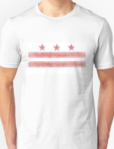 Watercolor Washington DC flag T-Shirt