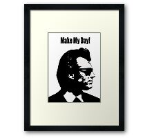 Clint Eastwood Dirty Harry Make My Day Framed Print